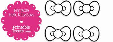 Free Printable Hello Kitty Bow Printable Treats Com