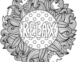 Printable Serenity Coloring Page For Adults Pdf Jpg Etsy