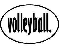 Volleyball Word Large Oval Black And White Volleyball Word Flexible Magnet