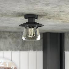 semi flush mount lighting modern ceiling glass laurel foundry modern farmhouse la grange 1 light semi