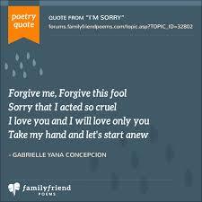 i m sorry love poems