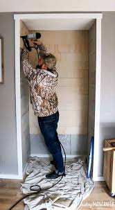 how to build a diy farmhouse style reading nook with storage cozy white painted shiplap