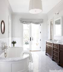 Traditional Bathroom Tile Designs With Oval Tub And Polished To Beautiful Design