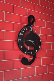 Treble Clef Music Store Chord Treble Clef Music Wall Clock In Black Music Themed Wall Clocks Great Gift