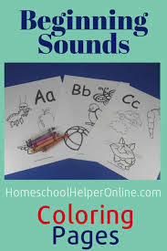 This abc coloring game for toddlers and older kids will make education interactive and fun for them and help in learning and identifying letters of the. Beginning Sounds Coloring Pages Homeschool Helper Online