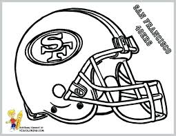 Nfl Football Coloring Pages Image For Nfl Football Helmet Coloring