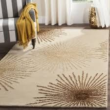 Small Picture Safavieh Handmade Soho Burst Beige New Zealand Wool Shag Rug 36