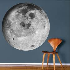 moon wall mural decal space wall
