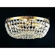 crystal flush mount chandelier and antique copper 3 light 4 jolie chrome drum shade semi