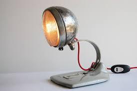 bobber metal motorcycle headlight handcrafted vintage desk lamp 100 00 via