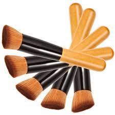 1pcs professional makeup brushes powder concealer blush foundation make up brush set wooden kabuki for mac