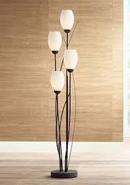 in floor lighting fixtures. black metal and white glass tulip 4 light floor lamp in lighting fixtures lamps plus
