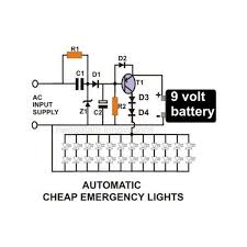 circuit diagram of battery operated tube light circuit transformerless led emergency light circuit electronic circuit on circuit diagram of battery operated tube light