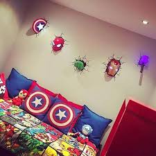Awesome A Gorgeous 3D Wall Art Inspired By Avengers For A Boyu0027s Bedroom