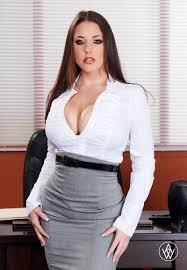Angela White Aussie Porn Star Sexy Outfit Office chicks.
