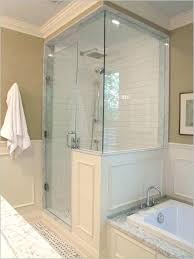 shower doors for shower half wall half wall shower doors a awesome best ideas on