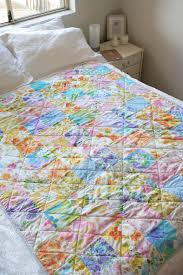 Look What I Made: Vintage Sheet Quilt   Katie's Kitchen Blog & How can it be that 21 years have passed since I was eagerly awaiting news  of my baby cousin's arrival? She's still my baby cousin, even though she's  about ... Adamdwight.com