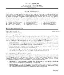Retail Management Resume Template Retail Management Store Manager