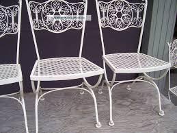 white iron outdoor furniture. White Metal Woodard Patio Furniture Iron Outdoor