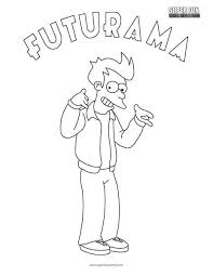 futurama coloring pages. Wonderful Pages Fry Futurama Coloring Sheet  And Pages E