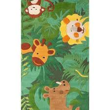 king of the jungle green 6 ft x 9 ft area rug