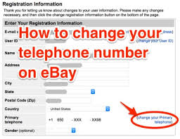 How To Change Your Phone Number How To Change Or Update Your Phone Number In Your Ebay Account