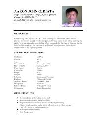 Career Objective For Resume Personal Objectives For Resumes Sample Objectives In Resume For 71