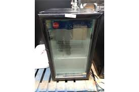 imbera single door glass front cooler