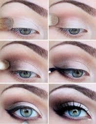 smokey eye elegant makeup tutorial for blue eyes especially small brown kim kardashian
