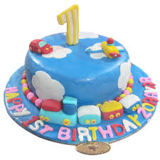 Sky First Birthday Cake Chandigarh Cakes Delivery Home Delivery