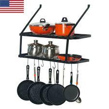 shelf pot racks rack wall mounted pan
