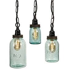 IMAX 87617-3 Lexington Mason Jar Pendant Lights, Set of 3