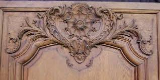 french carved oak wall panels
