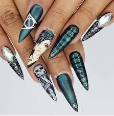 Harry Potter Nail Designs 50 Wicked Harry Potter Nail Designs