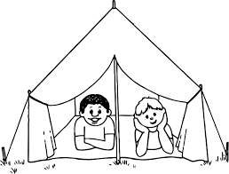 Small Picture Kids Camping Coloring Page Wecoloringpage