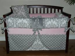 great pink baby girl bedding light gray damask crib 5 p c zoom dress shoe clothes background wallpaper coat converse