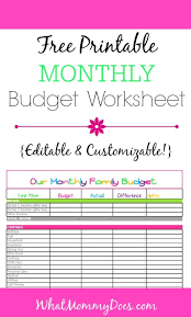 free download budget worksheet free monthly budget template cute design in excel whatmommydoes