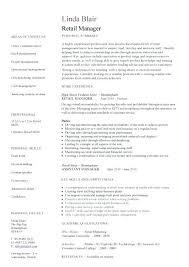 Retail Resume Interesting Retail Manager Skills Resume Letsdeliverco