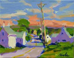 painting 8x10 canvas cape cod cottage pleinair