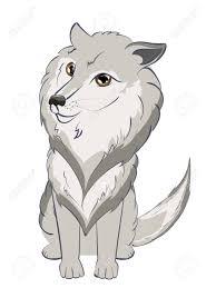 大きな目のイラストがかわいい漫画灰色オオカミの肖像画