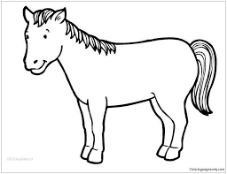 Cute Horse Coloring Pages Cute Horse Coloring Pages Cute Horse