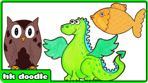 easy animal drawings for kids. Interesting Kids 10 Easy Animal Drawings For Kids Vol 2  Step By Drawing Tutorials  How To Draw Cute Animals  YouTube Inside For R