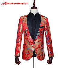 Us 71 89 21 Off Animal Print Suit Jacket Red Print Suit Blazer Shawl Lapel Man Jacket Custom Made Man Top Tailor Suit Blazer Jacket P In Suit