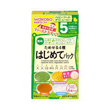 Bột ăn dặm 4 vị Wakodo Nhật Bản 6 gói (Cho bé từ 5 tháng)