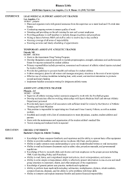 Trainer Resume Sample Assistant Trainer Resume Samples Velvet Jobs 99