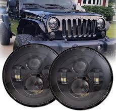 Lx Light 7 Lx Light 7 Round Black Cree Led Headlight High Low Beam For Jeep Wrangler Jk Tj Lj Cj Hummber H1 H2 Pair