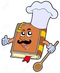 cartoon recipe book vector ilration stock vector 4820652