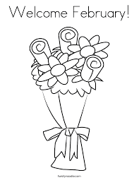 Small Picture Welcome February Coloring Page Twisty Noodle