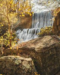 Blanchard Springs Mirror Lake Falls In Autumn Photograph by Gregory Ballos