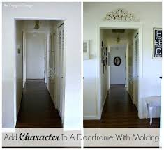 doorway picture frame add character to a with molding an cottage french door diy